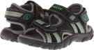 Black/Green Geox Kids Jr Sandal Strada for Kids (Size 9)