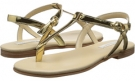 Gold Dolce & Gabbana Metallic Thong Sandal for Kids (Size 13.5)