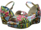 Dolce & Gabbana Embroidered Scarf Print Canvas Sandal Size 13