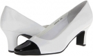 White Nappa w/ Black Patent Tip Fitzwell Vinny for Women (Size 5)