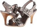 Anthracite Cow Metallic Isola Ismena for Women (Size 7)