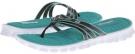 Charcoal/Aqua SKECHERS Sport Cooling Gel 3 Strap Thong Sandal for Women (Size 11)