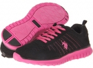 Black/Fuchsia U.S. POLO ASSN. Colette for Women (Size 7)