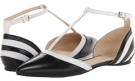 Black/White Leather Nine West Aubree for Women (Size 7)
