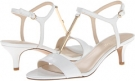 White Leather Nine West Yeelied for Women (Size 7)