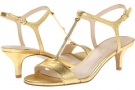 Gold Metallic Nine West Yeelied for Women (Size 7)