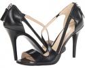 Black Leather Nine West Simplistic for Women (Size 7)