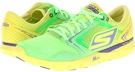 Grey/Lime SKECHERS Performance GO Run - Speed for Women (Size 5)