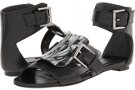 Resin Buckle Flat Sandal Women's 6.5