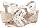 White Leather Bandolino Kimli for Women (Size 5.5)