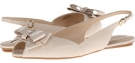 Off White Leather Nine West Bethany for Women (Size 5)