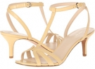 Yellow Leather Nine West Gissella for Women (Size 7)