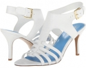 White Leather Nine West Guadalupe for Women (Size 7)