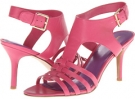 Pink Leather Nine West Guadalupe for Women (Size 7)