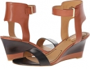 Cognac/Black Leather Nine West Radefade for Women (Size 7)