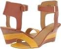 Cognac/Yellow Leather Nine West Radefade for Women (Size 7)