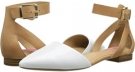 White/Tan Leather Isaac Mizrahi New York Evelyn for Women (Size 7)