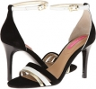Black Suede/White/Gold Suede Isaac Mizrahi New York Positano for Women (Size 7)