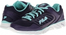 Mysterioso/Aruba Blue/White Fila Memory Fresh 2 for Women (Size 7)