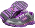 Dark Silver/Purple Cactus Flower/Knockout Pink Fila Memory Fresh 2 for Women (Size 7)