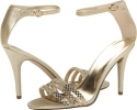 Gold Leather Nine West Sabrinna for Women (Size 7)