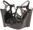 Black PU CARLOS by Carlos Santana Tender for Women (Size 6.5)