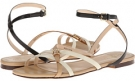 Black/ White Cole Haan Jensen Flat Sandal for Women (Size 10)