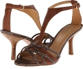 Dark Brown/Natural Leather Nine West Borrow for Women (Size 5)