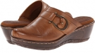 Cognac Leather Bare Traps Quashed for Women (Size 6.5)