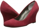 Red Ecco Suede/Mtch Elastic Vaneli Udara for Women (Size 4)