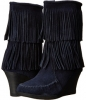 Calf Hi Double Fringe Wedge Women's 5.5