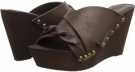 Dark Brown Leather Charles David Menum for Women (Size 7)