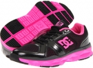Black/Fluorescent Pink DC Unilite Trainer W for Women (Size 7)