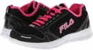 Black/White/Knockout Pink Fila Fila Deluxe for Women (Size 7)