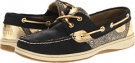 Black/Gold Damask Floral Sperry Top-Sider Bluefish 2-Eye for Women (Size 5.5)