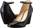 Black Leather Nine West Zelene for Women (Size 7)