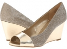 Gold/Gold Fabric Bandolino Toohot 2 for Women (Size 5.5)
