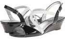 Black/White Synthetic Bandolino Grayson for Women (Size 5.5)