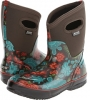 Chocolate Multi Bogs Classic Winter Blooms Mid Lite for Women (Size 7)