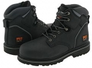 Black Oiled Full-Grain Leather Timberland PRO 6 Pit Boss Steel Toe for Men (Size 9)