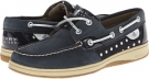 Navy/Silver Metallic Dot Sperry Top-Sider Bluefish 2-Eye for Women (Size 5.5)