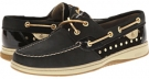 Black/Gold Metallic Dot Sperry Top-Sider Bluefish 2-Eye for Women (Size 5.5)
