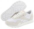 White/Light Grey Reebok Lifestyle Classic Nylon W for Women (Size 7)