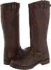 Dark Brown Calf Shine Vintage Leather Frye Veronica Slouch for Women (Size 11)