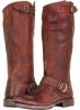 Dark Brown Stone Antiqued Frye Veronica Slouch for Women (Size 11)