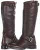 Dark Brown Vintage Tumbled Full Grain Frye Veronica Slouch for Women (Size 11)