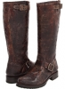 Chocolate Vintage Leather Frye Veronica Slouch for Women (Size 11)