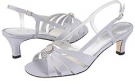 Silver Satin David Tate Rosette for Women (Size 5)