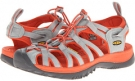Neutral Gray/Red Clay Keen Whisper for Women (Size 5)