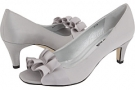 Silver Satin Vaneli Madora for Women (Size 4.5)